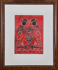 Eagle to Frog, A Limited Edition (1/10) Signed Haida Inuit Abstract Art Print