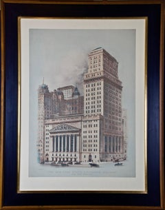 "View of ""The New York Stock Exchange Building and New Addition"" 1922"