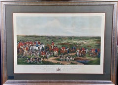 Her Majesty's Stag Hounds on Ascot, A Colored 19th Century British Hunting Scene