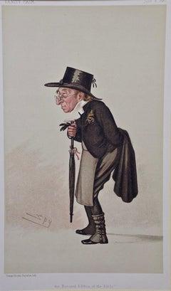 "Vanity Fair Caricature, Benjamin Harrison ""Revised Version of the Bible"" by Spy"