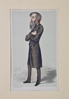 """Vanity Fair Caricature, William Booth, Founder of """"The Salvation Army"""" by Spy"""