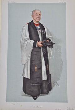 "Vanity Fair Caricature, Rev. Edgar Sheppard ""A Great Marrier"" by Spy"
