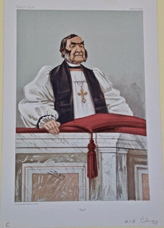"""Vanity Fair Caricature, Frederick Temple, Archbishop of Canterbury """"Just"""" by Spy"""