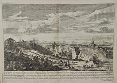 An Antique Engraved View of Copper Mining in Sweden in the 17th C. by Dahlberg