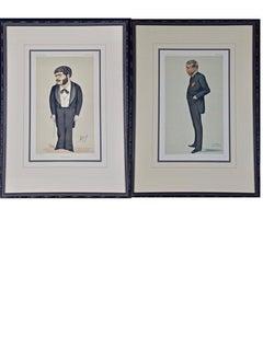 "A Pair of 19th C. Vanity Fair Portraits of Gilbert & Sullivan by ""Spy"" & ""Ape"""