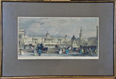 Pair of Engravings/Etchings of 19th Century Views of London by Havell and Allom