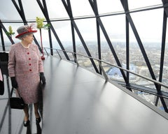 Queen Elizabeth II at the Gherkin, London, 2010  Photograph