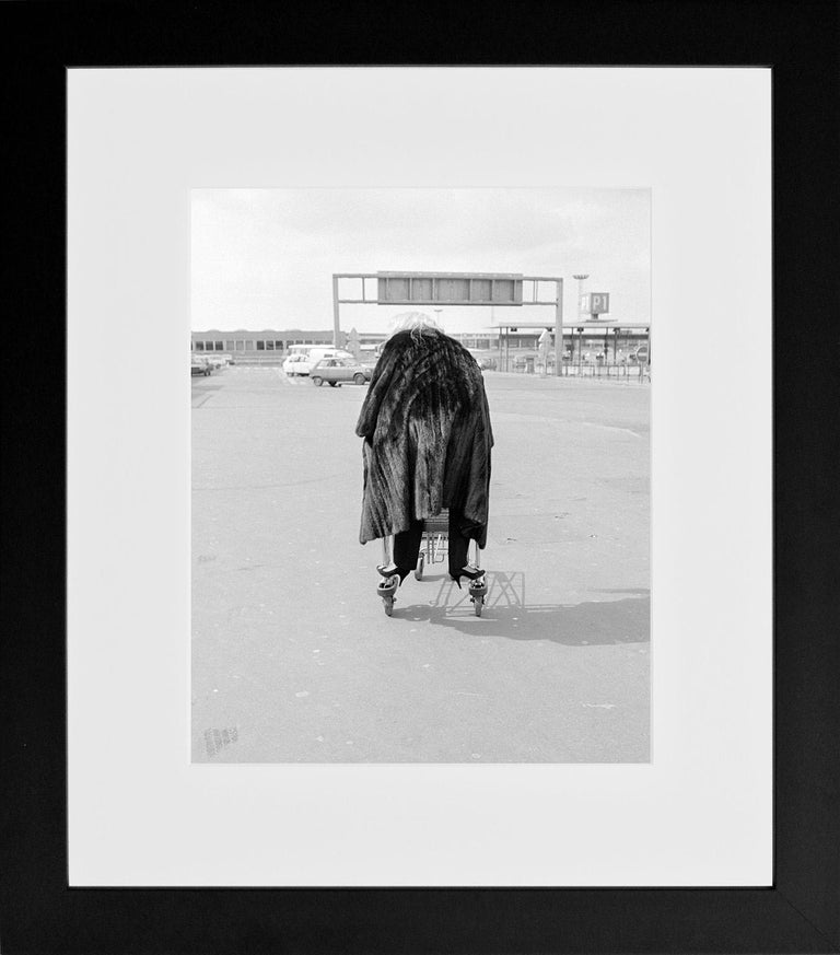 Fur Coat on the Run, Tunisia, 1983, Photography - Gray Black and White Photograph by Richard Young