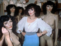 Joan Collins and her Mannequin, Chelsea, London, 1981    Photograph