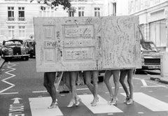 The Beatle's Original Apple Studio Door with Legs, Savile Row, London, 1982