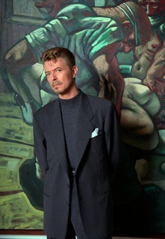David Bowie with a Painting by Peter Howson, London, 1994, Photography