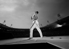 Freddie Mercury, Queen in Concert, Magic Tour, Wembley Stadium, London, 1986