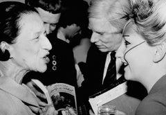Andy Warhol, Diana Vreeland & Jordan at the Andy Warhol Exhibition at the ICA