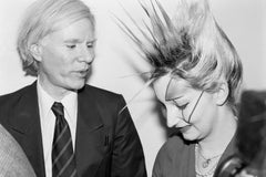 Andy Warhol & Jordan at the Andy Warhol Exhibition at the ICA, London, 1978