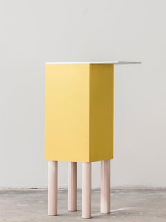 Side Table, Color-block Side Table, Powder Coated Aluminum Nest Table
