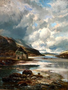 Loch Ransie, Arran - Large Landscape Oil Painting By Clarence Henry Roe