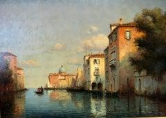 Venice, Evening - Oil on Canvas, Landscape Painting, Mid-20th Century, Bouvard