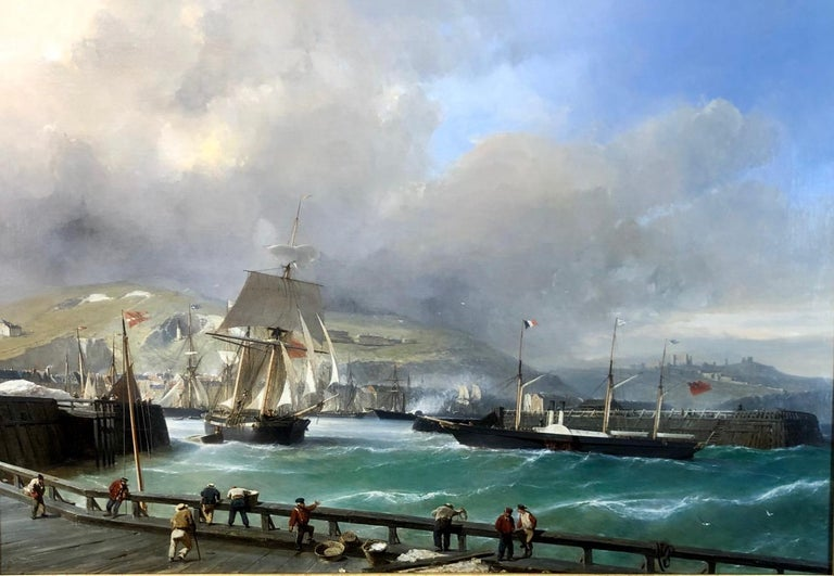 Julius Hintz was born in Hamburg in 1805 where he studied under Siegfried Bendixon. In 1840 he moved to Paris, studying with Louis Isabey, exhibiting at the Paris Salon. On his visits to England he became fascinated by the Port of Dover, how the