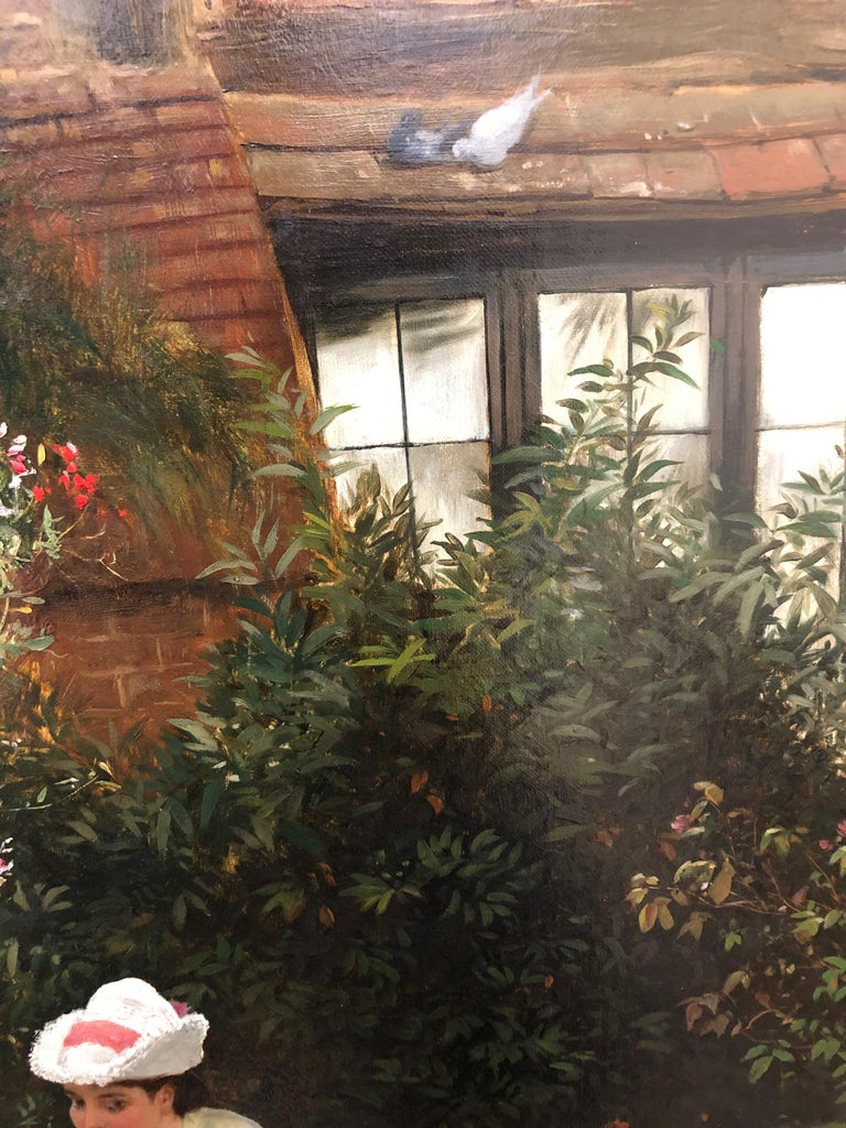 Gathering Roses - Oil Painting by John Haynes Williams For Sale 7