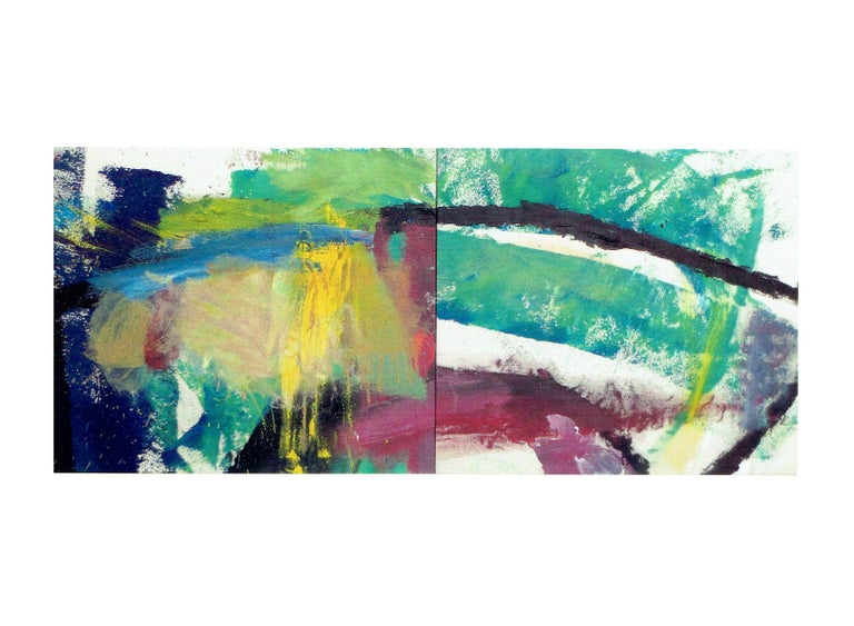 William Quigley Abstract Painting - Untitled (Diptych)