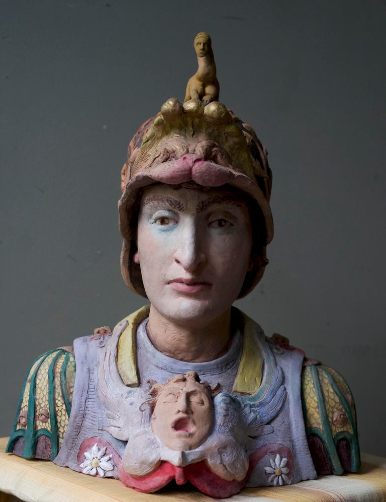 Abigail Tullis Figurative Sculpture - Ideal Southern Mercenary