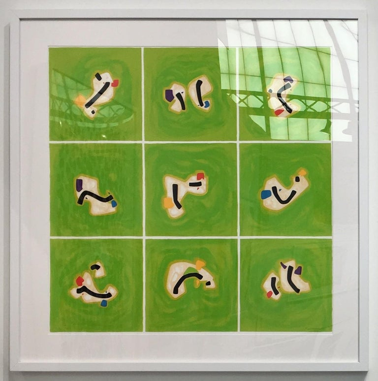 Osvaldo Mariscotti Abstract Print - Green, from Flowers