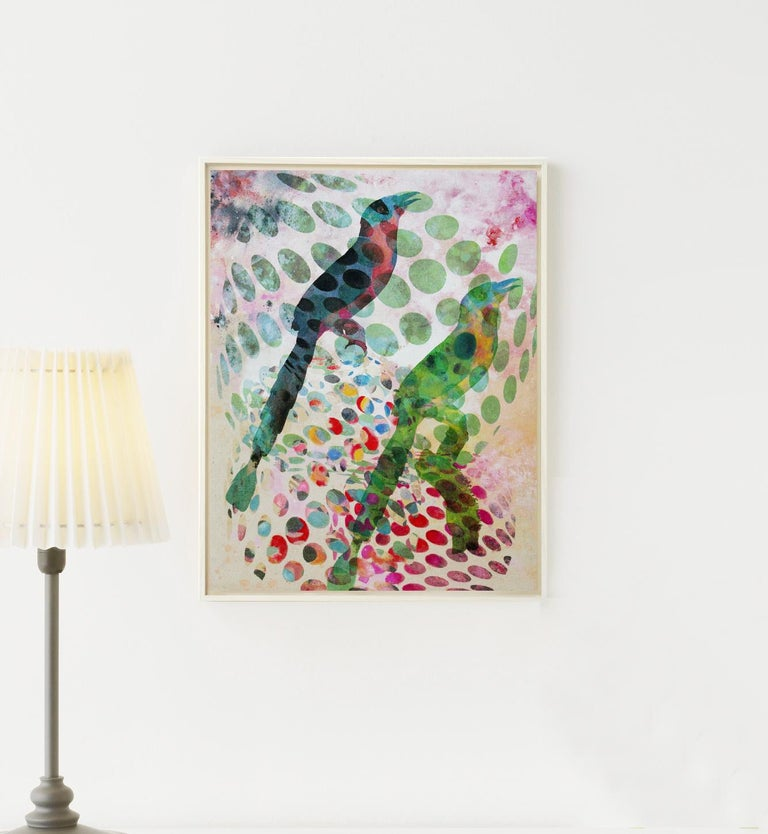 Birds 029-Contemporary, Abstract, Expressionist, Modern, Street art, Surrealist For Sale 1