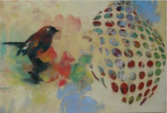 Birds 023,  Mixed Media, Contemporary, Animals, Painting, Acrylic , Abstract