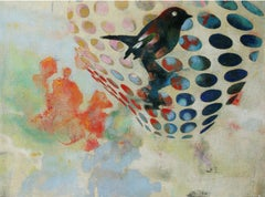 Birds 018 - Mixed Media, Contemporary, Animals, Painting, Acrylic , Abstract