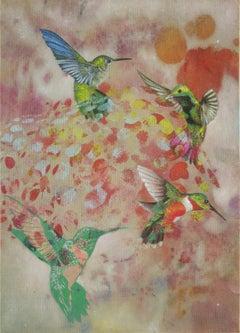 Birds 013- Contemporary, Abstract, Expressionist, Modern, Street art, Surrealist