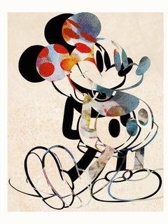 M003-Figurative, Pop art. Street art, Modern, Contemporary, Abstract Mickey Mous