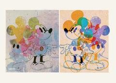 M17-Figurative, Street art, Pop art, Modern, Contemporary, Abstract Mickey Mouse