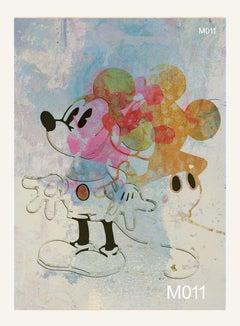 M011-Figurative, Street art, Pop art, Modern, Contemporary Abstract Mickey Mouse