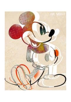 M011-Figurative, Street art, Pop art, Modern, Contemporary, Abstract Mickey Mous