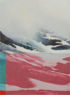 Red and snow - Contemporary, Abstract, Minimalism, Modern, Pop art, Surrealist