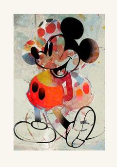 M002-Figurative, Street art, Modern, Pop art, Contemporary, Abstract Mickey Mous