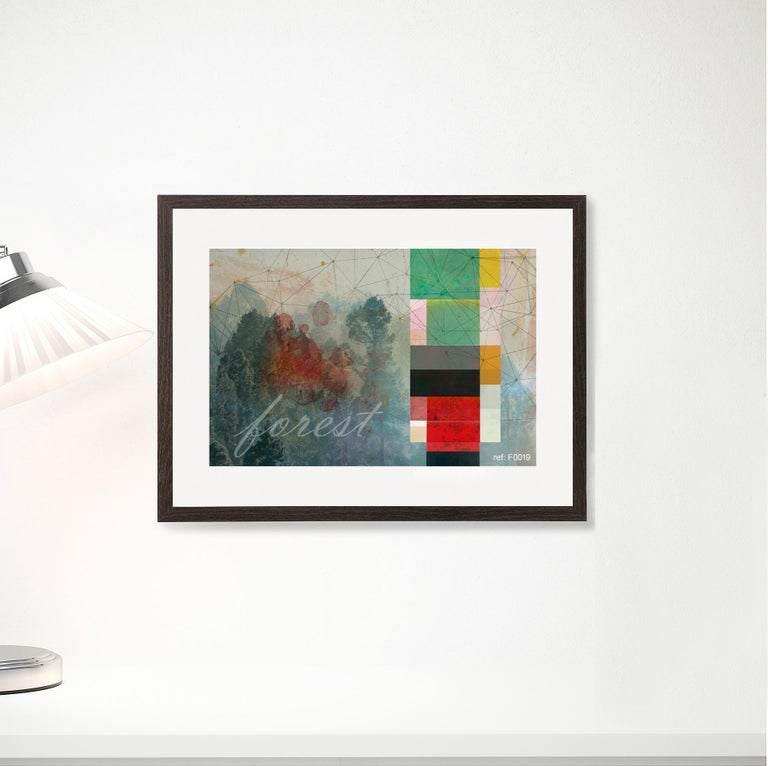 F0019-Contemporary, Abstract, Minimalism, Modern, Pop art, Surrealist, Landscape - Print by Francisco Nicolás