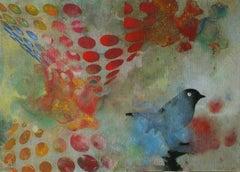 Birds 024- Contemporary, Abstract, Expressionist, Modern, Street art, Surrealist