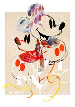 M001-Figurative, Street art, Modern, Pop art, Contemporary, Abstract Mickey Mous