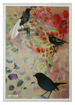Birds 018- Contemporary, Abstract, Expressionist, Modern, Street art, Surrealist