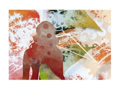 Woman & forest-Contemporary, Abstract, Expressionism, Modern, Pop art, Geometric