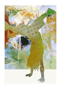 Boy at forest-Contemporary, Abstract, Expressionism, Modern, Pop art, Geometric