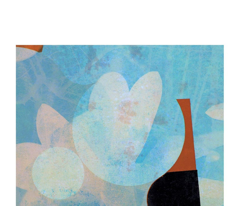 Flowers III - Contemporary, Abstract, Expressionism, Modern, Pop art, Geometric - Blue Abstract Print by Francisco Nicolás