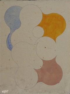 Sth097-Contemporary, Abstract, Minimalism, Modern, Pop art, Geometric, Acrylic