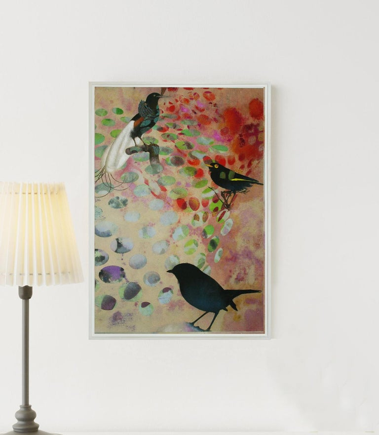 Birds 018- Contemporary, Abstract, Expressionist, Modern, Street art, Surrealist For Sale 1