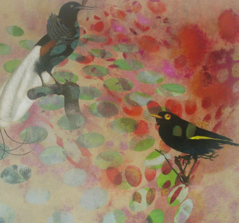 Birds 018- Contemporary, Abstract, Expressionist, Modern, Street art, Surrealist For Sale 2