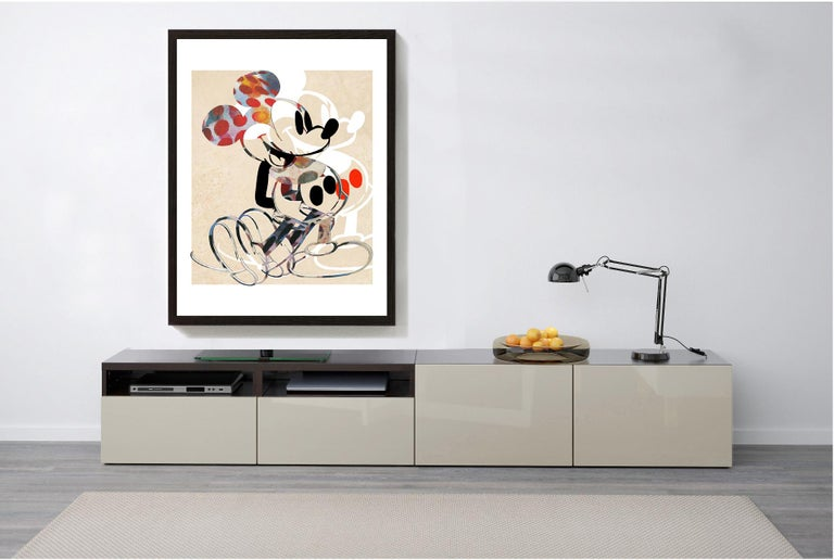 M004-Figurative, Street art, Modern, Pop art, Contemporary, Abstract Mickey Mous For Sale 1