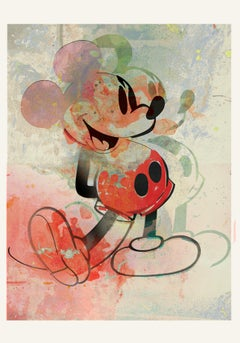 M16-Figurative, Street art, Pop art, Modern, Contemporary, Abstract Mickey Mouse