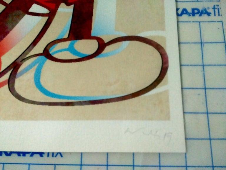 M06-Figurative, Pop art. Street art, Modern, Contemporary, Abstract Mickey Mous - Print by Francisco Nicolás