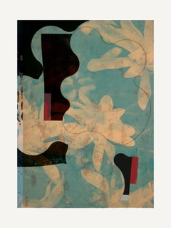 Flowers IV - Contemporary, Abstract, Expressionism, Modern, Pop art, Geometric